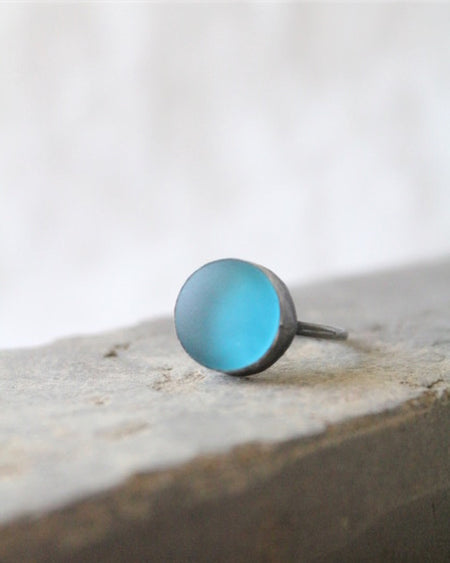 Sea Glass & Silver Ring
