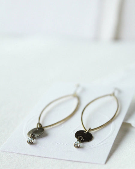 Swarovski Crystal & Brass Earrings