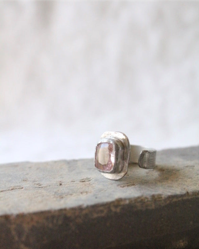 Morganite & Silver Ring