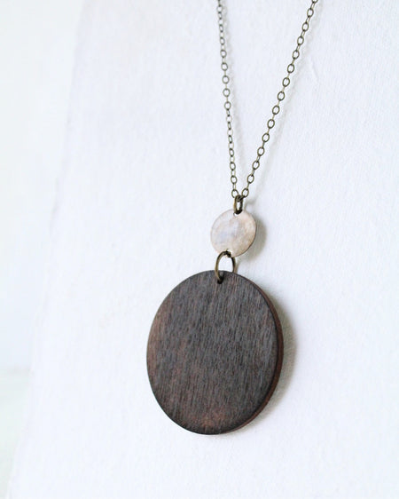 Wood & Brass Necklace