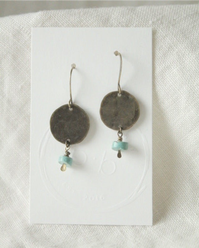 e1026 Turquoise and Brass