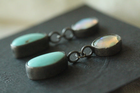 Opals & Turquoise Earrings