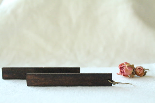 Wood & Brass Earrings