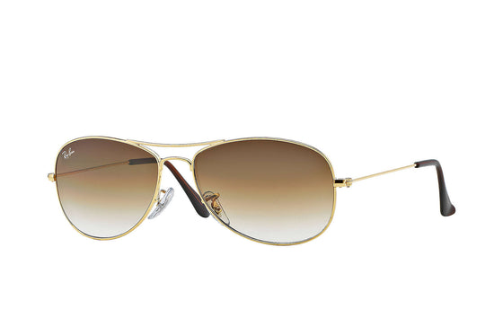RayBan COCKPIT Gold Light Brown Gradient RB3362 001/51