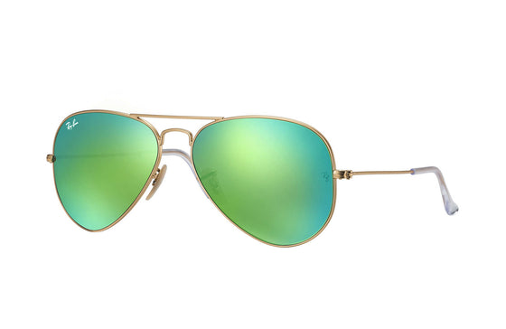 RayBan AVIATOR Gold Green Flash RB3025 112/P9