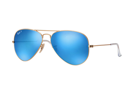 RayBan AVIATOR Gold Blue Flash RB3025 112/4L