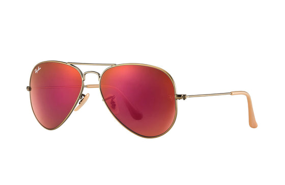 RayBan AVIATOR Bronze-Copper Red Mirror RB3025 167/2K