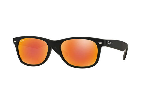 RayBan NEW WAYFARER Black Orange Flash RB2132 622/69