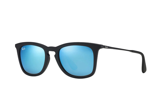RayBan CHRIS Black Blue Mirror RB4221 6167/6Q