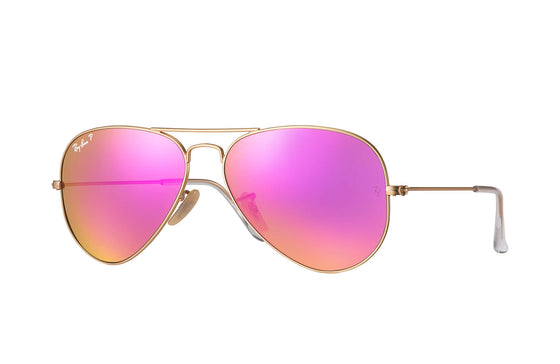 RayBan AVIATOR Gold Cyclamen Flash RB3025 112/1Q