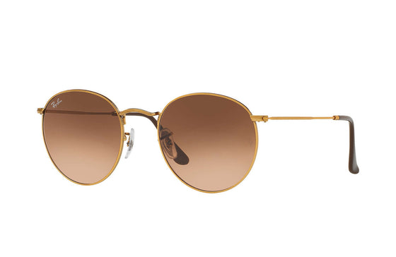 RayBan ROUND METAL Bronze-Copper Pink/Brown Gradient RB3447 9001A5