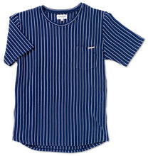 Navy and White Striped Tee