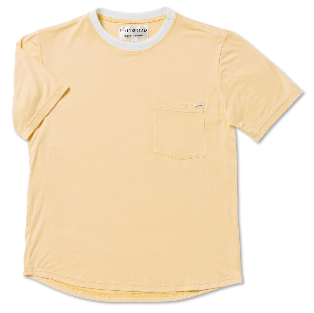 Soft Yellow Jersey Tee