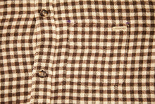Brown and Off White Flannel