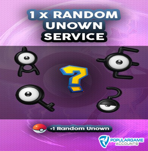 1 x Random Unown Pokemon Go Service