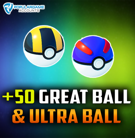 50 x Great Ball & Ultra Ball - Pokemon Go Service