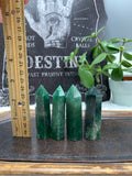 Green Strawberry Quartz Towers (Intuitively Selected)