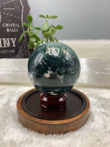 Moss Agate Sphere- MA11 - Earthly Secrets