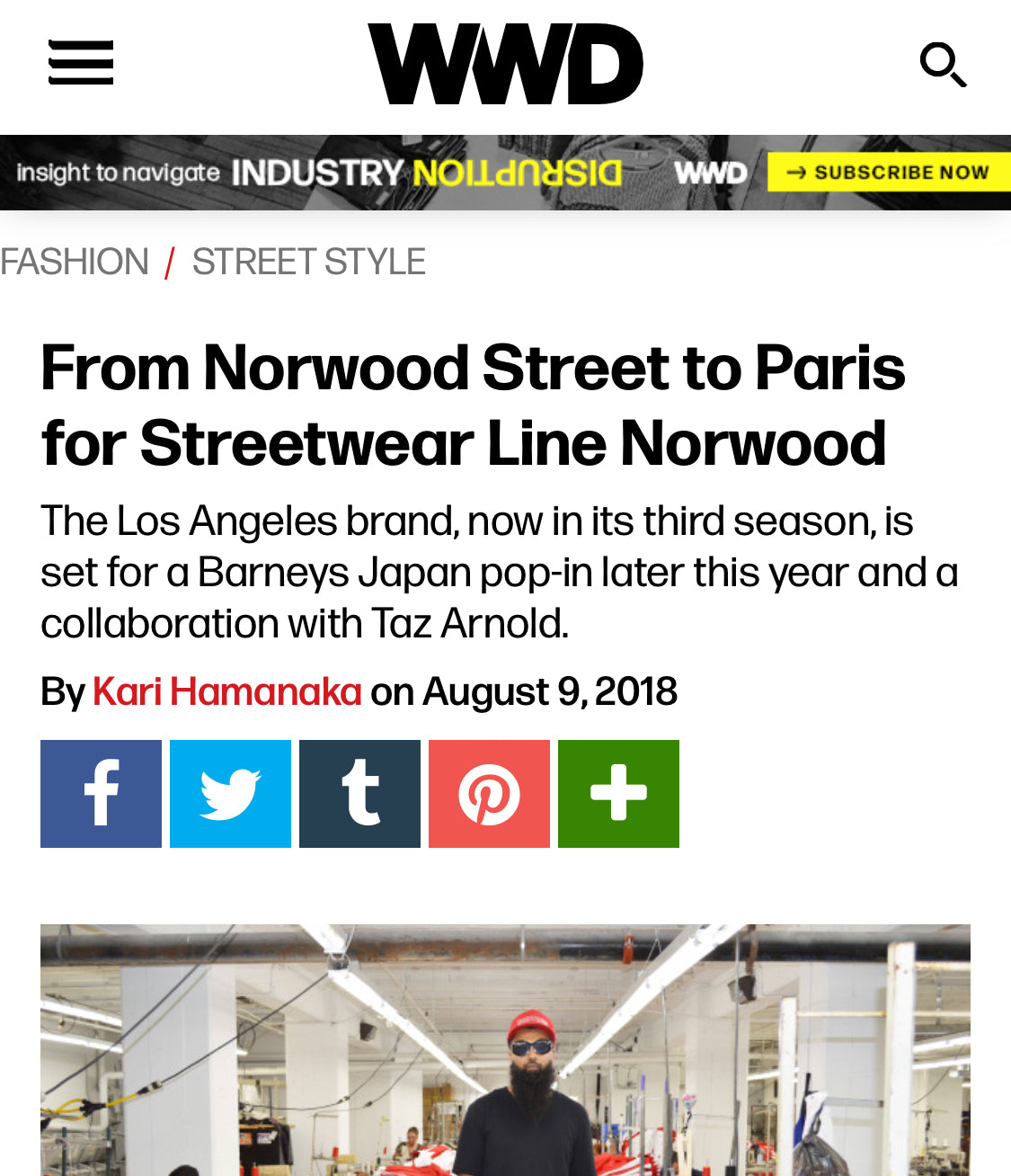 From Norwood Street to Paris for High-End Streetwear Line Norwood - WWD