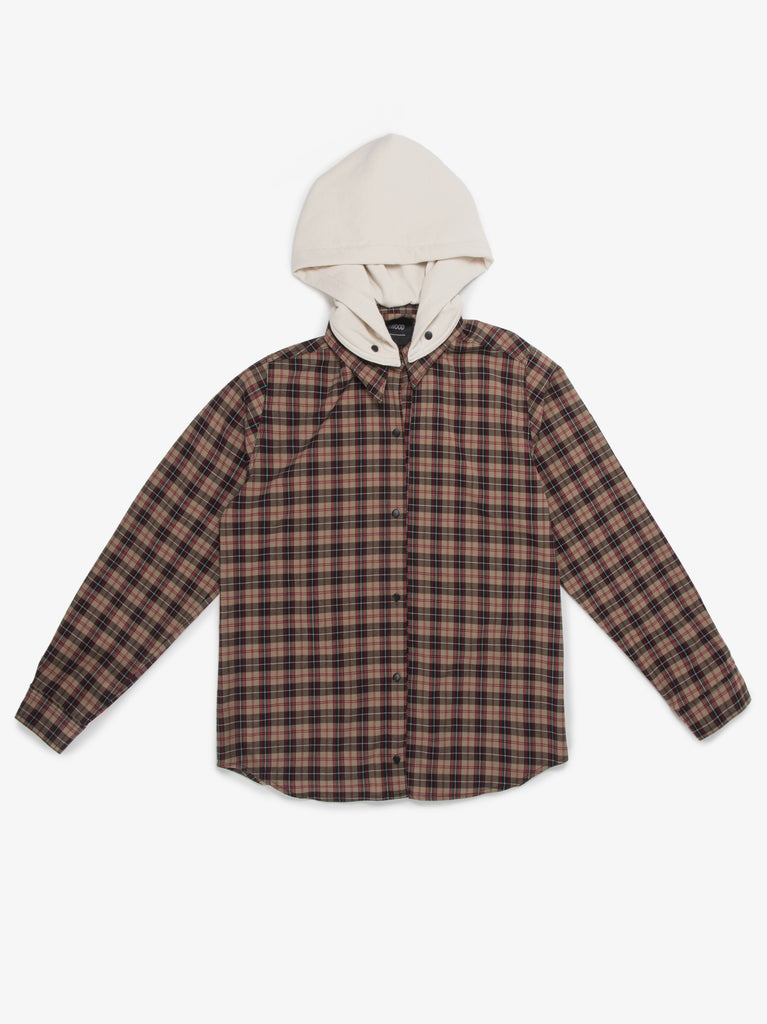MOJAVE PLAID BUTTON DOWN RED