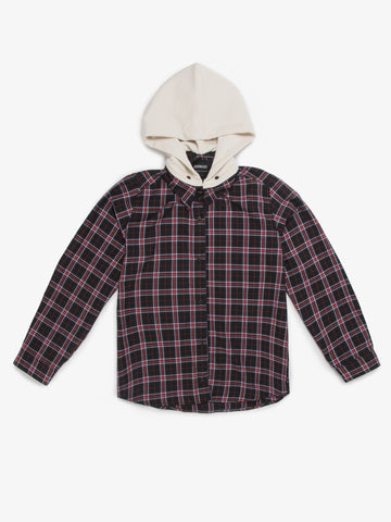 WEB EXCLUSIVE MOJAVE PLAID BUTTON DOWN BLACK