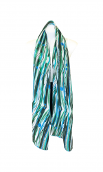 Rainforest Fruit Long Rectangle Chiffon Scarf 67.5cm x 180cm