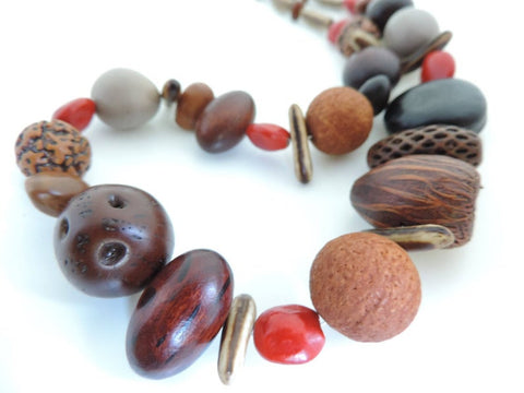 Australian Native Seed Wood Necklace