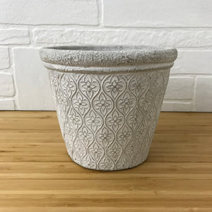 "6"" tapered floral plant pot"