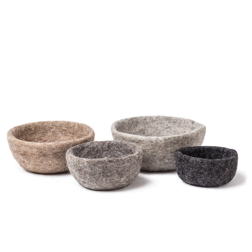 nesting bowls, set of 4, taupe