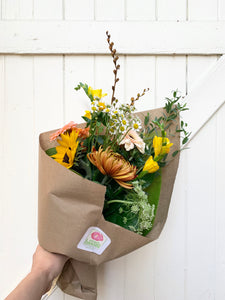 bi-weekly hand tied bouquet subscription
