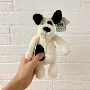 Bashful Black Cream Puppy Small by Jellycat