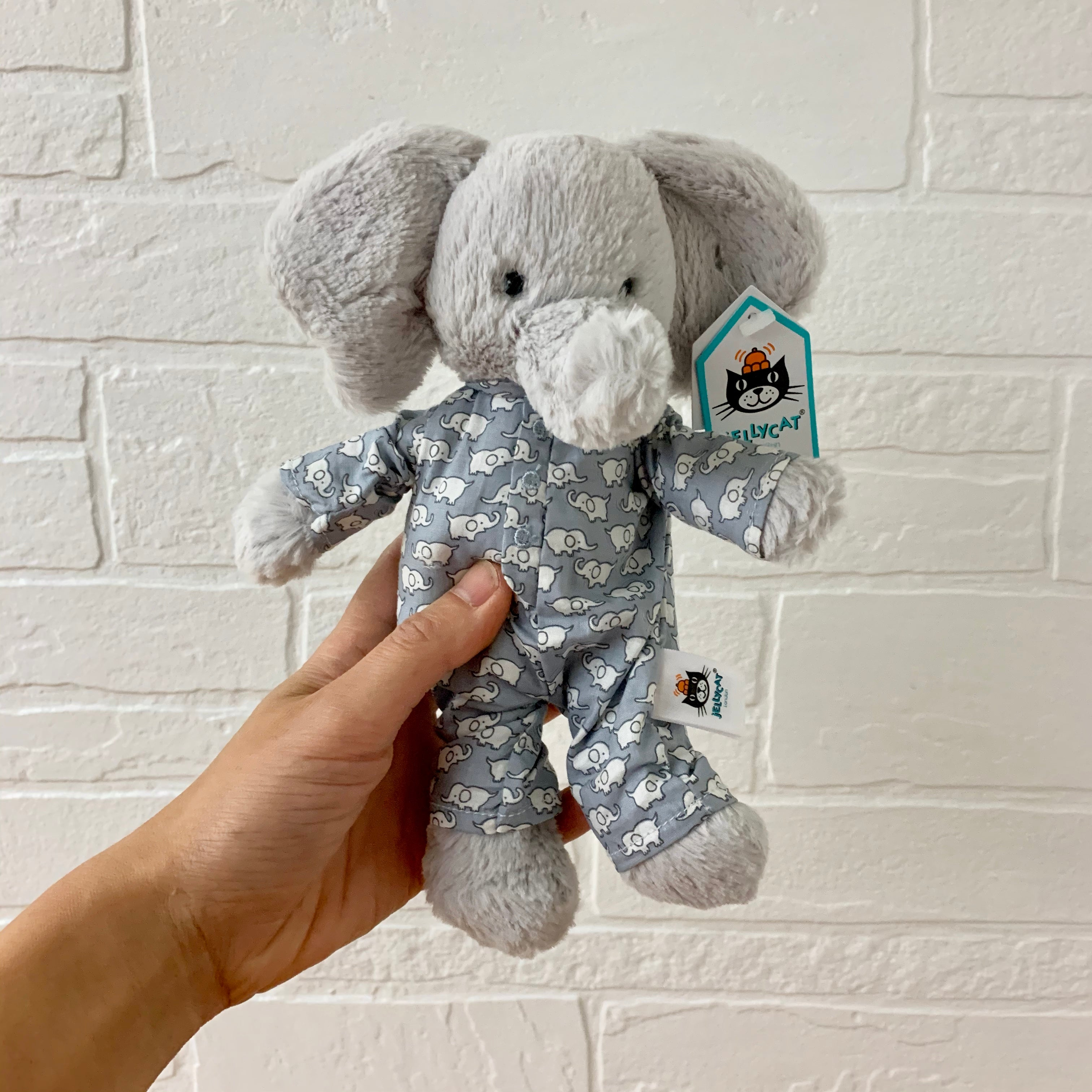 bedtime elephant small by jellycat