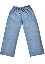 Ethically made trousers chambray