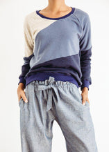 fair trade made navy blue cotton sweatshirt jumper