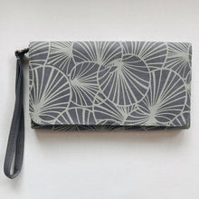 Hand printed vegan cotton wallet purse clutch