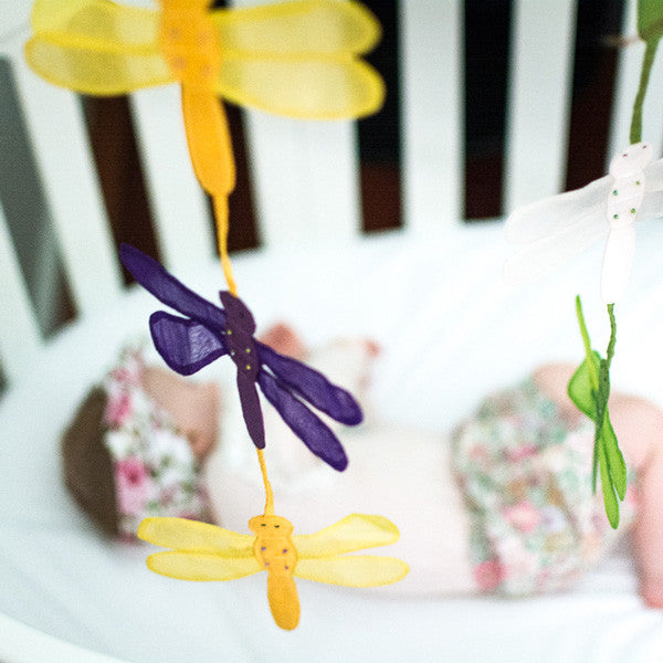 Handmade dragonfly mobile for nursery decor