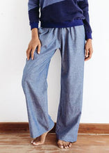 Chloe Trouser in chambray blue - Modimade