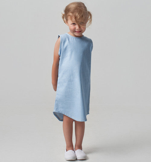Kids clothing organic cotton denim dress