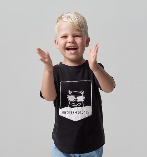 Kids clothing organic cotton hippo tshirt