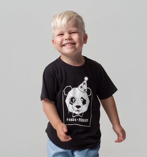 Kids clothing organic cotton panda tshirt