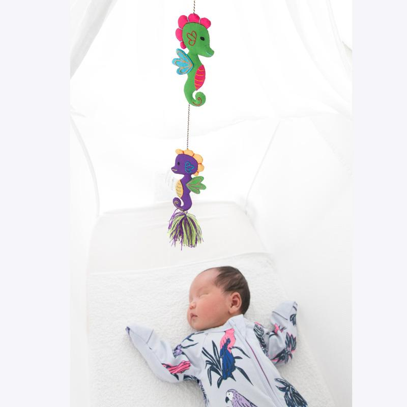 Hanging mobile Seahorse under the sea theme