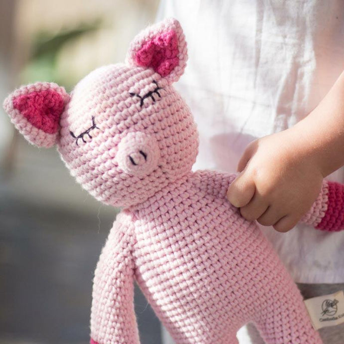Handmade Sleepy Snoogu Pig - Modimade