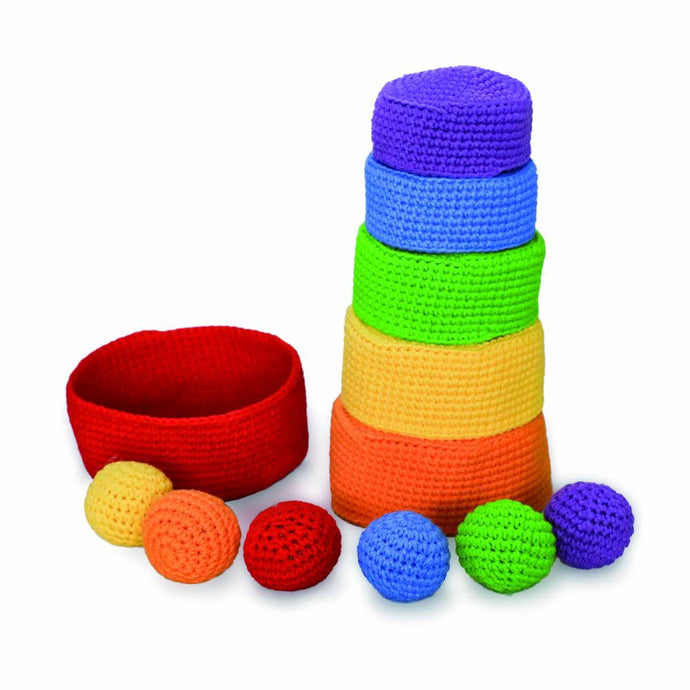 Rainbow Stacking Bowl/Ball Set