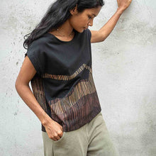 Tonle keang top with mountains cotton tshirt