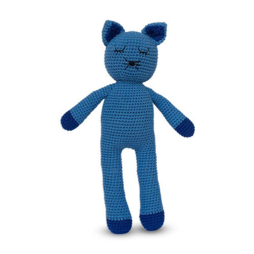 Fair and ethically made sleepy snoogu toy. Kitty Cat made by Cambodia Knits, buy in Australia here.