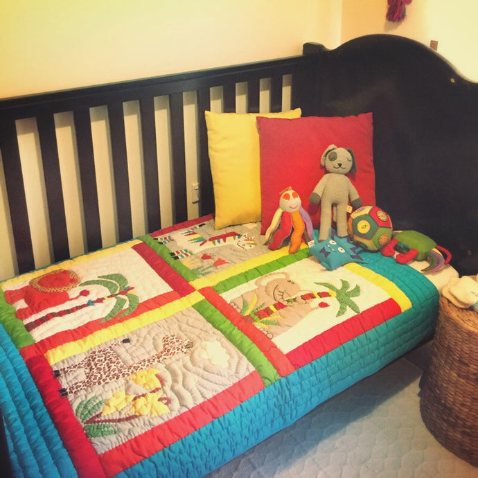 Handmade Cot Quilt - Animal