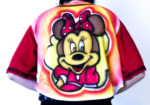 Mini mouse Girls Baseball Top