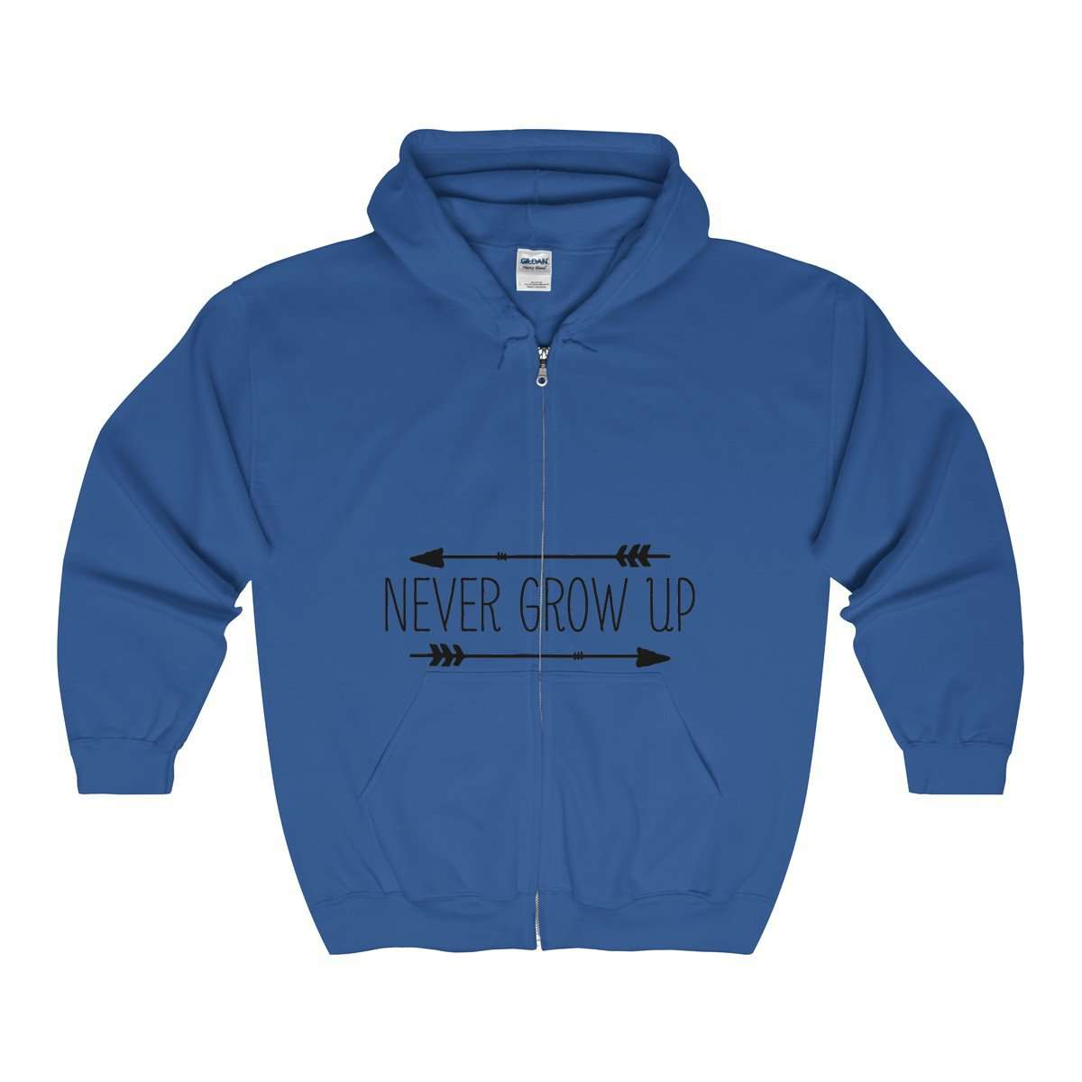 Unisex Full Zip Hooded Sweatshirt