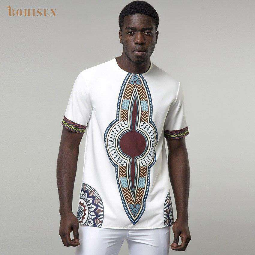 White African Print Dashik T-shirt