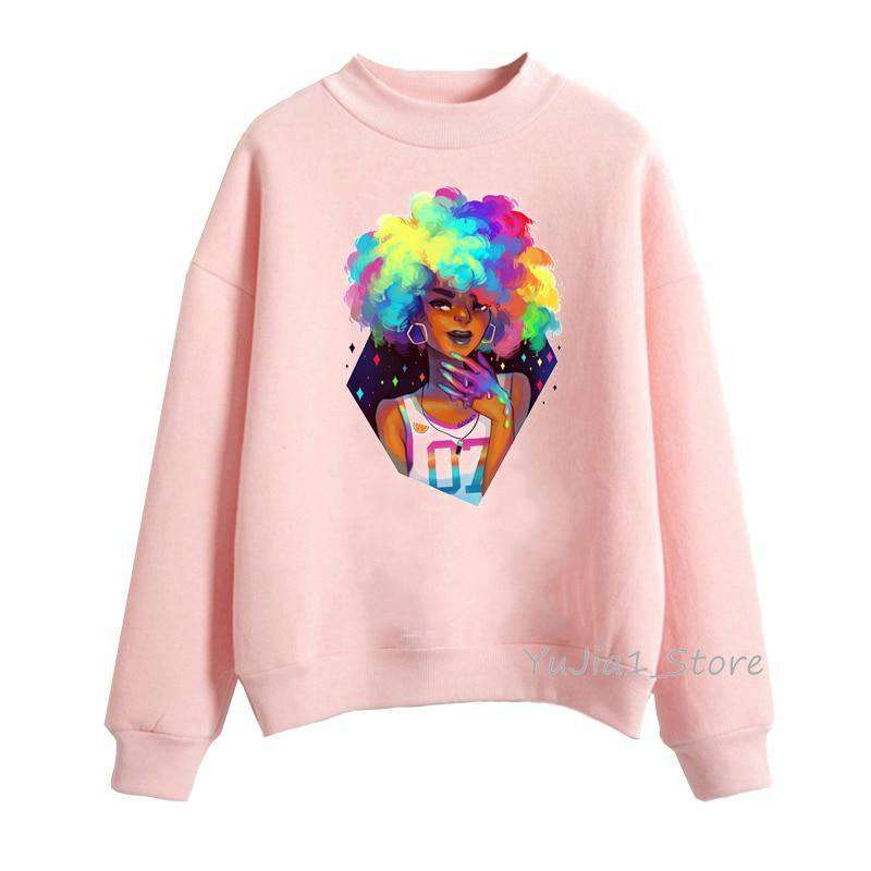 Poppin Afro Queen pullover - HCWP